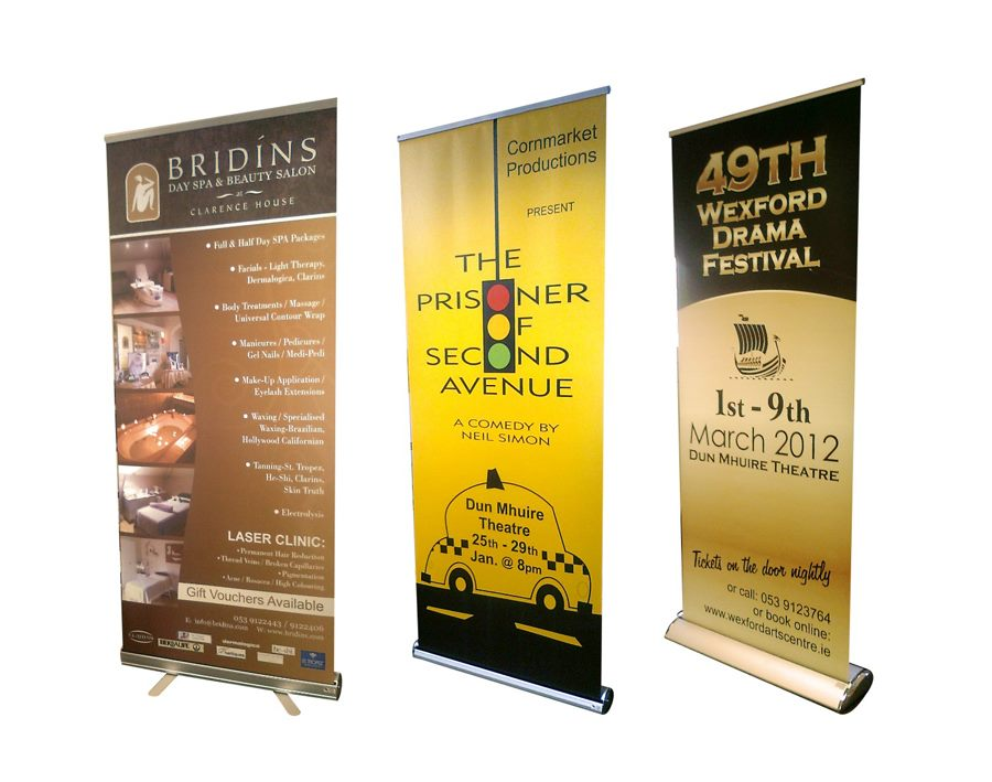 Custom Exhibition Stand Up Comedy : Pull roll up banners exhibition stands crosbie brothers wexford